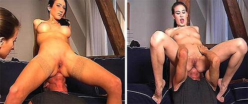 Tan Stockings Facesitting